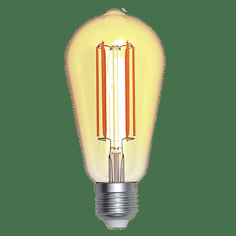 ALA-022 LAMPARA LED 4W Bulbo de Filamento ST64 Ambar