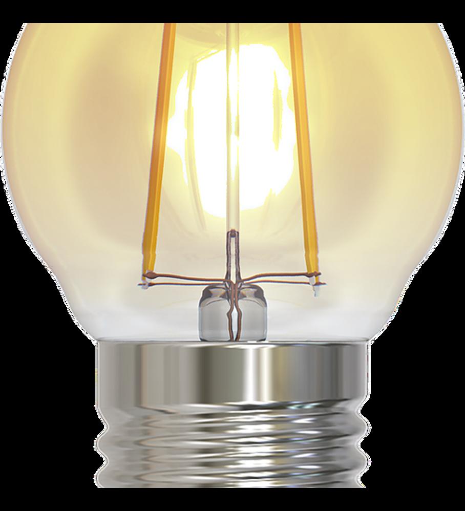 ALA-023 LAMPARA LED 2W Bulbo de Filamento G45 E26 Ambar