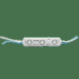 WMO-010 MODULO 3 LEDS SMD2835 AZUL EXTERIOR 100 PZS