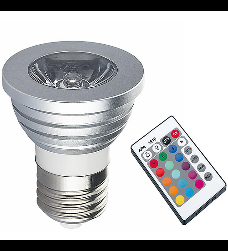 WLA-005 LAMPARA LED SPOT E26 3W RGB