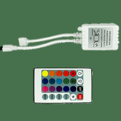 WAC-001 CONTROLADOR TIRA RGB 16 COLORES 72W INTERIOR