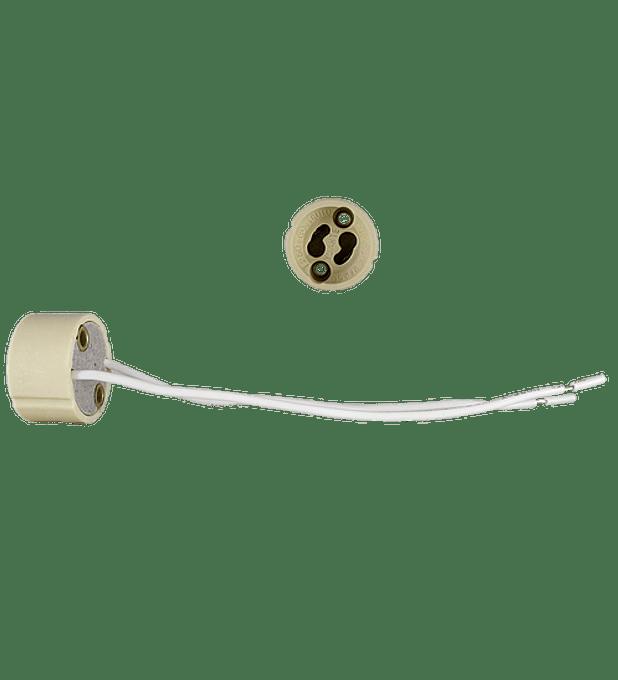 WAC-006 CONECTOR BASE GU10 CERAMICA CON CABLE