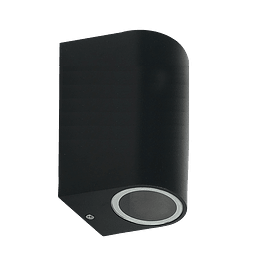 ADE-004-LUMINARIA PARED Cilindro Doble Negra GU10