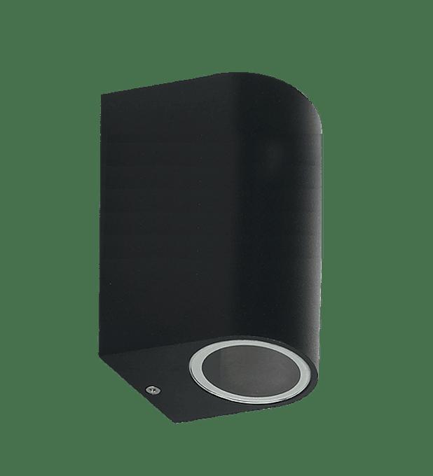 ADE-004-LUMINARIA PARED Cilindro Doble Negra GU10
