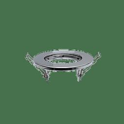 ADE-103 EMPOTRABLE FIJO ARO METALICO SATIN INTERIOR BASE MR16