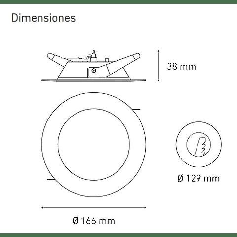LUNA 9 E L6356-1I0 9W 100-240V 40K BC