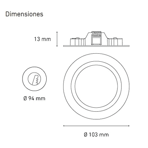 LUNA 6 TF L5004-130 6W 100-305V 60K BC