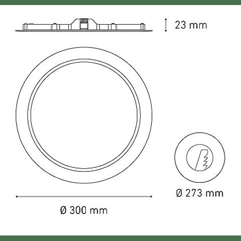 LUNA 25 FLAT L6341-1I0 25W 100-305V 40K BC