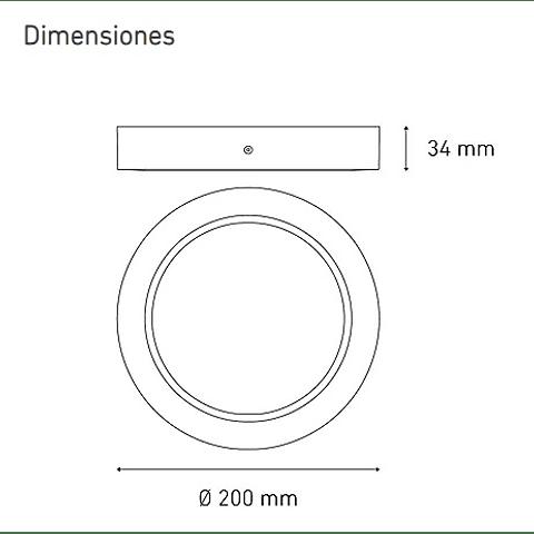 LUNA 13 FLAT S L6374-1I0 13W 100-305V 40K BC