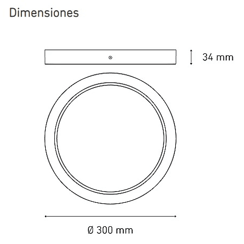 LUNA 25 FLAT S L6372-1I0 25W 100-305V 40K BC