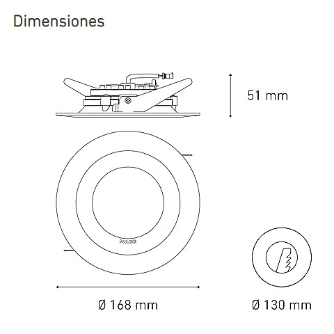 M 1400 DOM 16W L5024-1ID 100-305V 40K BC