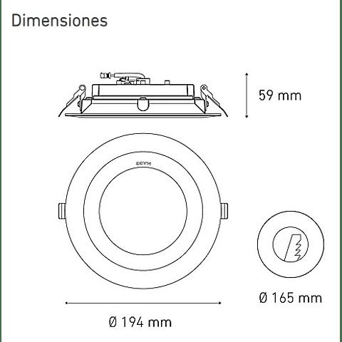 M 2300 DOM 23W L5032-1ID 100-305V 40K BC