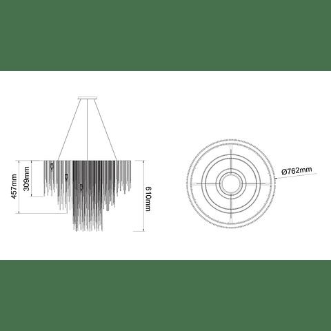 CANDIL ADELE Q17169-NI CADENA PLANCHADA EN ACABADO NÍQUEL