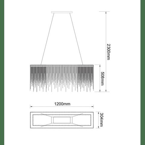 LAMPARA DECORATIVA ADELE Q17167-NI ACABADO NIQUEL