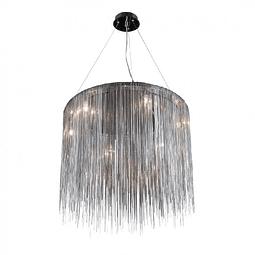 Lámpara Decorativa Adele Q17166-GD Circular cadena planchada Acab. Níquel