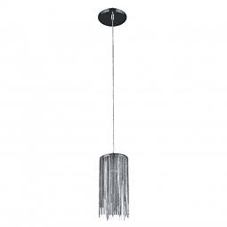 Lámpara Decorativa Adele  Q17161-NI  1 luz cadena planchada Acab. Níquel