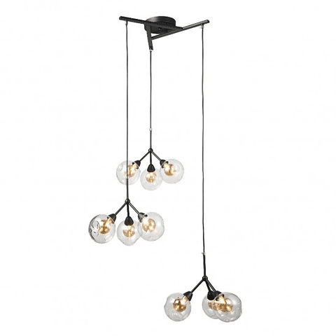 Q16509-BK Lámpara Decorativa Branche Triple Acab. Negro Mate