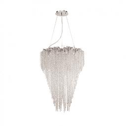 Lámpara Decorativa CASCADE Q90681-CL Acab. Cromo Cristal Biselado