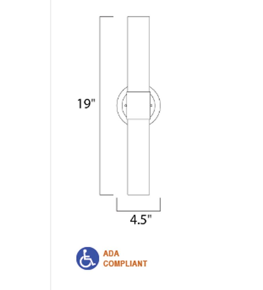 Cilandro LED 2-Light Cortesía Pared