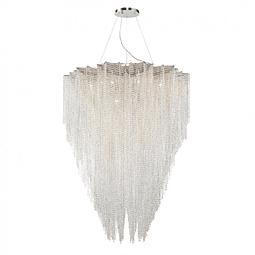 Lámpara Decorativa CASCADE Q90682-CL Acab. Cromo Cristal Biselado