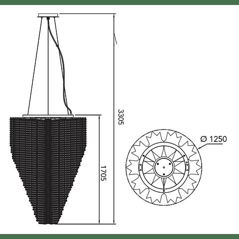 CANDIL CASCADE Q90682-CL