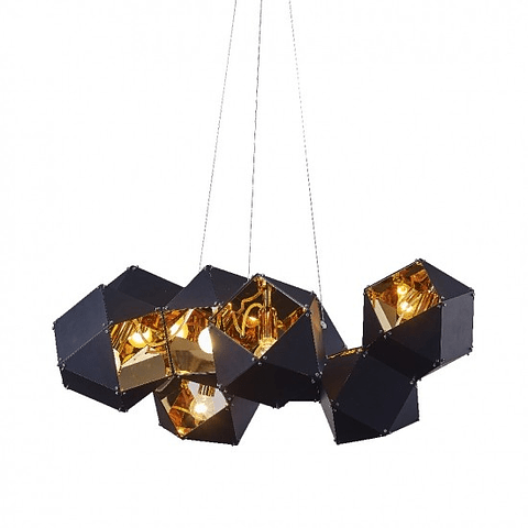 CUBE Q63505-BL PENDANT BLACK+GOLDEN