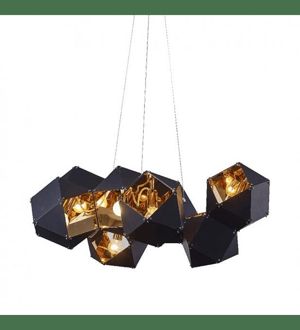 CUBE Q63505-BL PENDANT BLACK+GOLDEN
