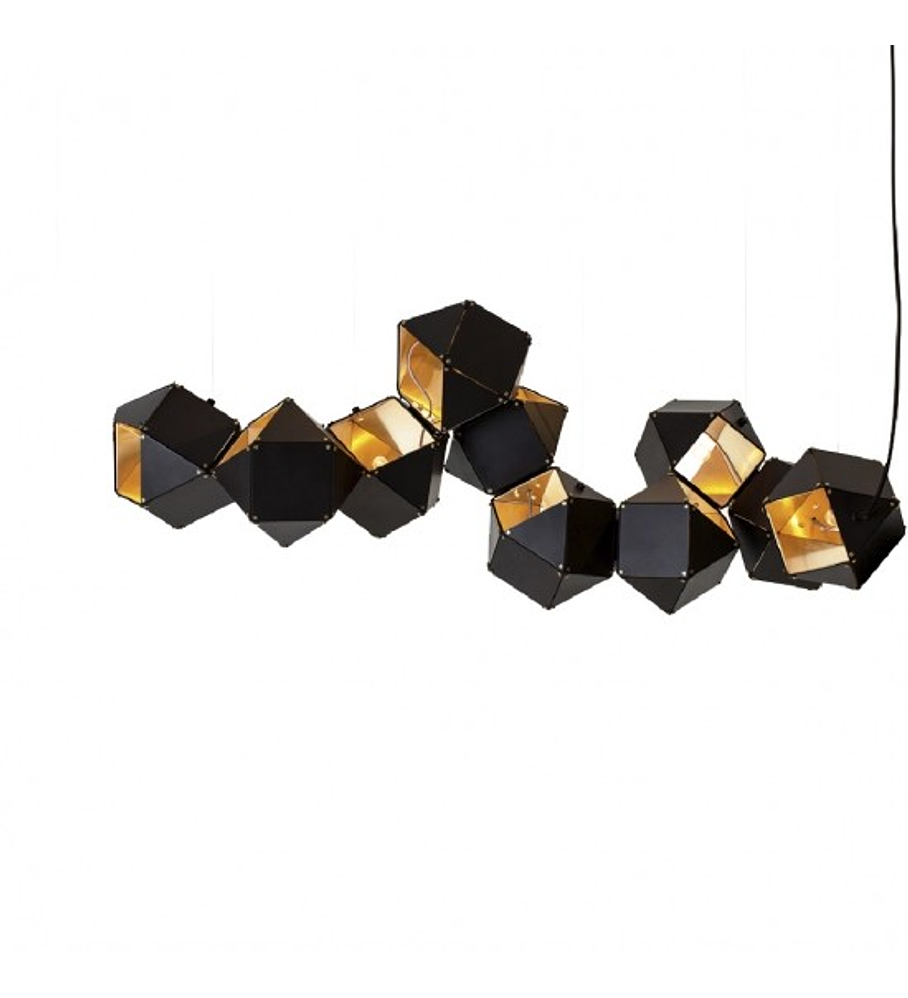 CUBE Q63610-BL PENDANT BLACK & GOLDEN