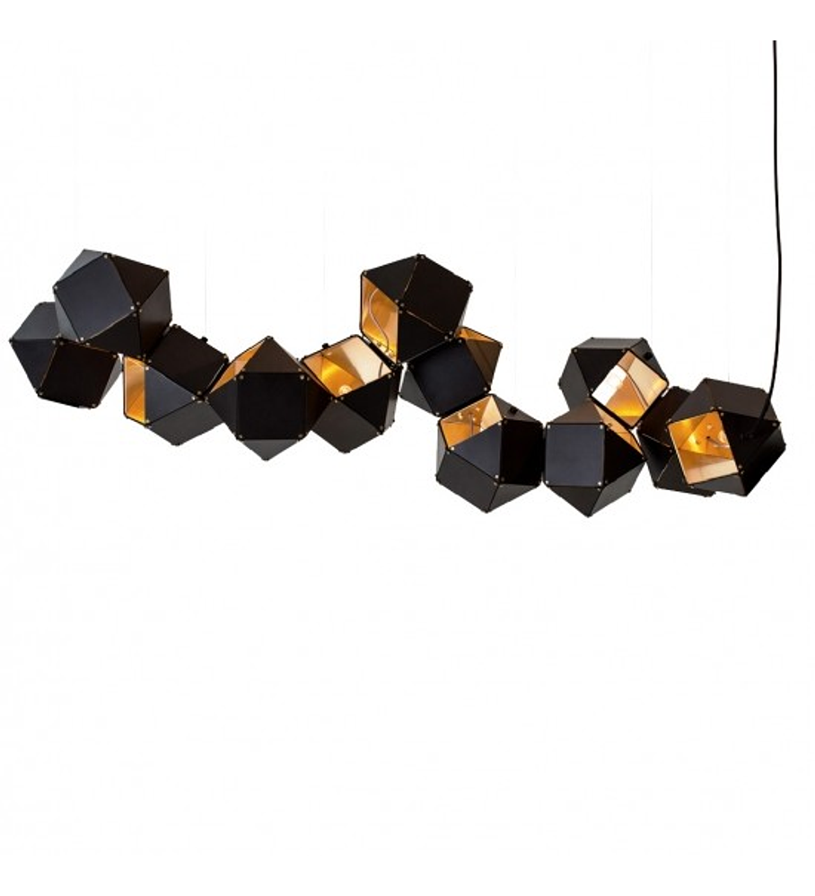 CUBE Q63606-BL PENDANT BLACK & GOLDEN