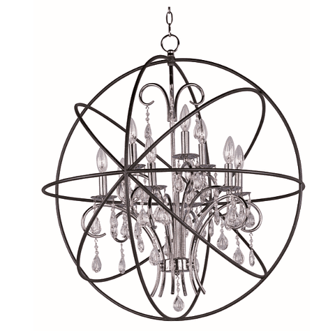 Orbit 9-Luces Colgante Cristal sku 25145ARPN