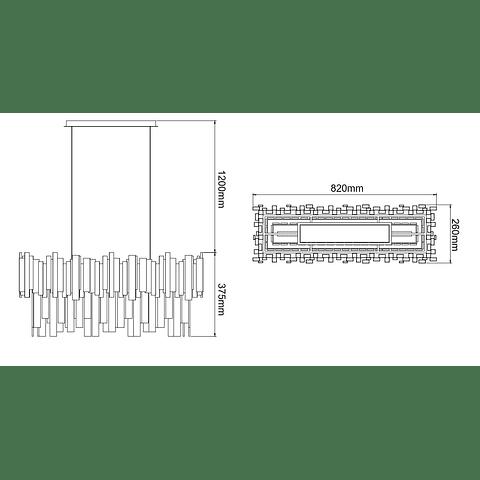 DANAE Q11607-NI PENDANT NICKEL & CRYSTALS