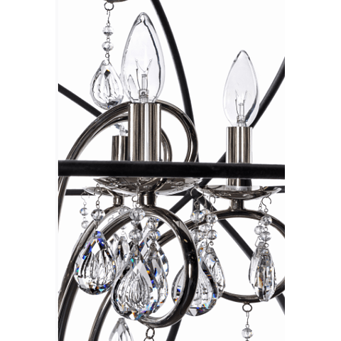 Orbit 4-Luces Colgante Cristal sku 25142ARPN