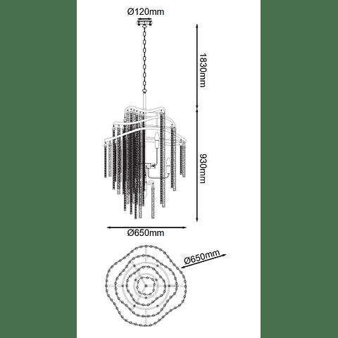DESIRÉE Q58506 CANDÍL VINTAGE 10 LUCES