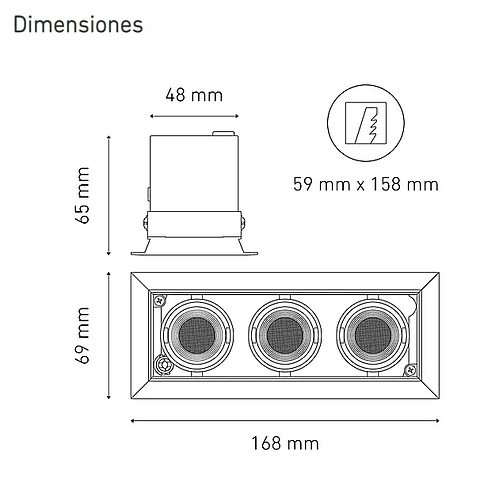 POINTS MICRO III L5916-YE4 100-240V AF 20° 30K NG