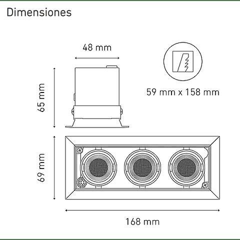 POINTS MICRO III L5916-YIJ 100-240V AF 40° 40K NG