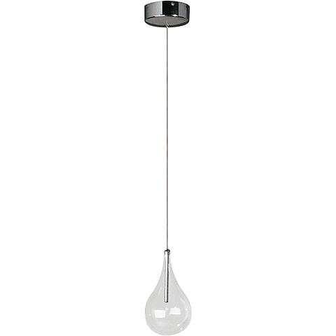 Larmes 1-Luz E23111-18 Colgante decorativa Acab. Cromo Pulido