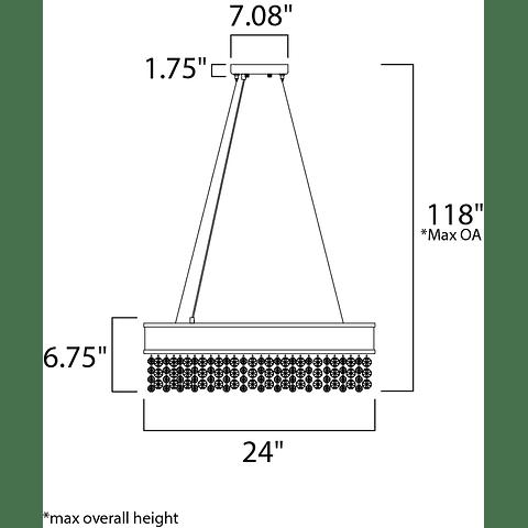 Mystic 16-Light Pendant  39655SHBZ