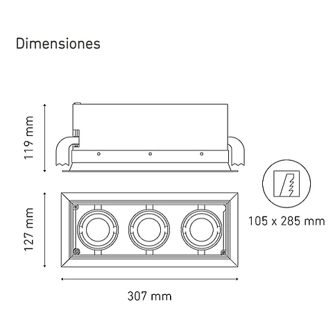 POINTS MINI III L5907-YIL 100-305V 25° 40K NG