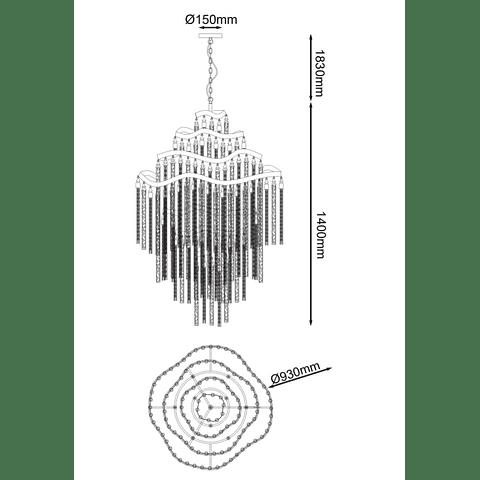 DESIRÉE Q58508-GD CANDÍL VINTAGE 18 LUCES