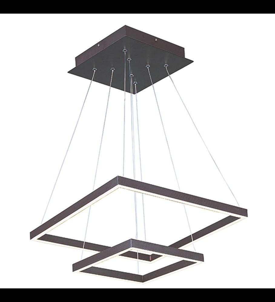 QUAD LED Pendant 2 Lights E22405-BZ