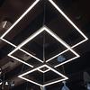 QUAD LED 3 luces E22407-BZ Colgante Decorativa Acab. Bronce