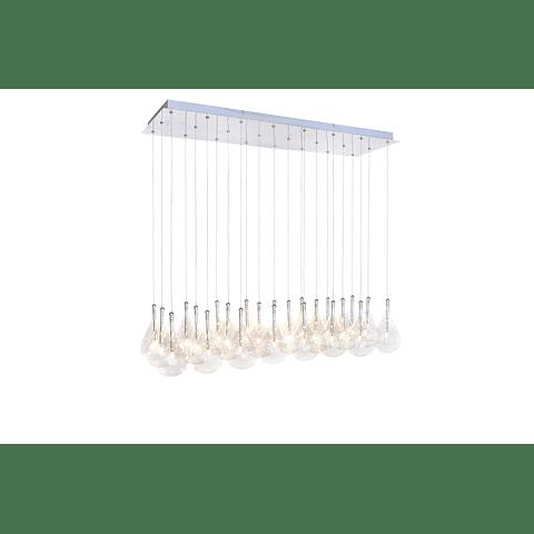 Larmes 24 luces E20118-18 Colgante decorativo Acab. Cromo Pulido