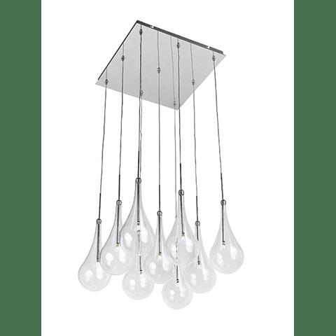 E20516-18PC Lámpara Larmes 9-Luces LED Acab. Cromo Pulido