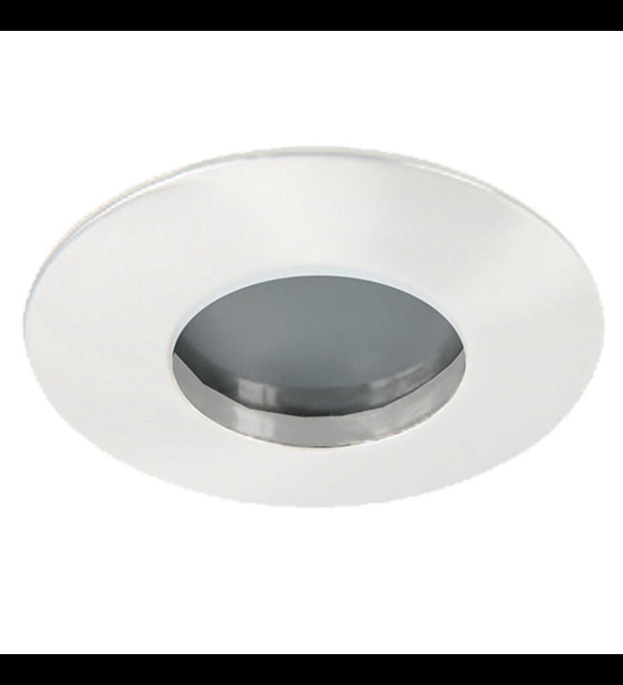 Emp. Fijo Para Baño IP65 GU-10 Blanco Cristal Frosted 66-3407-01