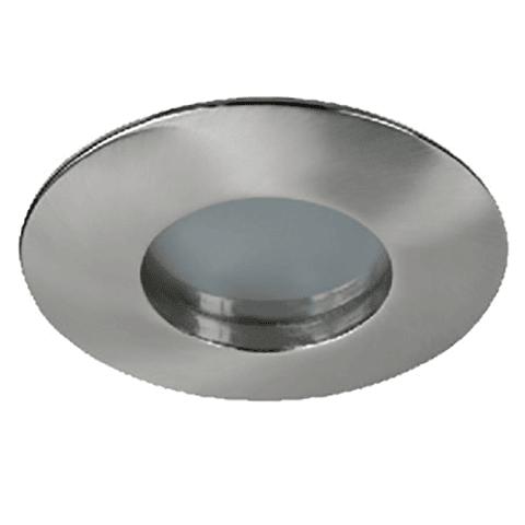 Emp. Fijo Para Baño IP65 GU-10 Cromo Cristal Frosted 66-3407-06