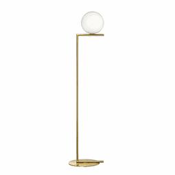 SONNE Luminario Pie Q31630-GD Acab. Oro Cristal Opalino