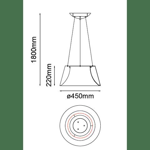 Lámpara THEO Colgante LED 36W 4000K Blanco mate Q27787-WH