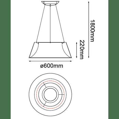 Lámpara THEO Colgante LED 40W 4000K blanco mate Q27788-WH