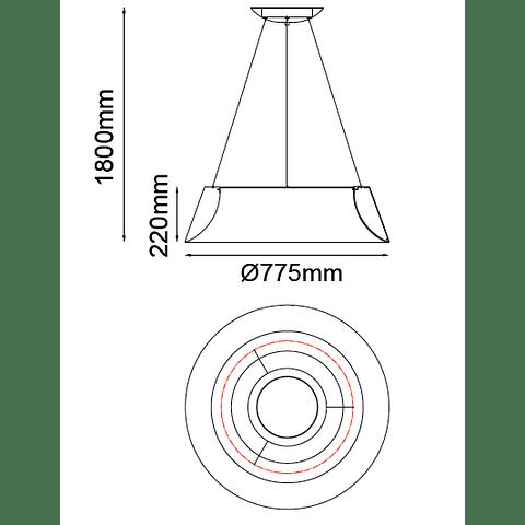 Q27789-WH Lámpara THEO Colgante LED 60W 4000K blanco mate