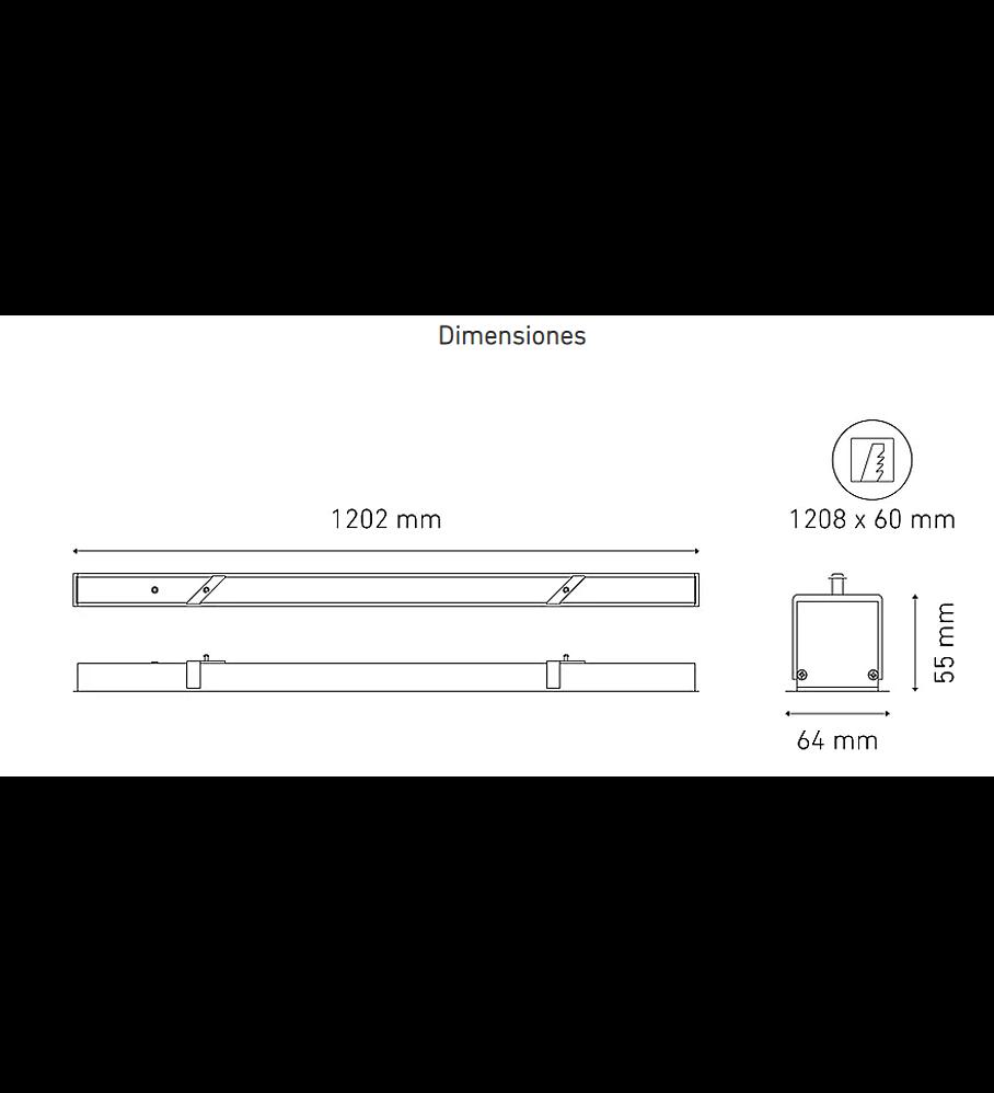 L6471-1I0 BL U S 1200 23W 100-305V 40K BC